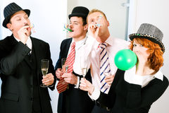 Rather bizarre party Royalty Free Stock Image
