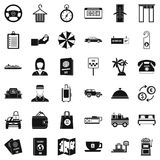 Rather profitable icons set, simple style. Rather profitable icons set. Simple set of 36 rather profitable vector icons for web isolated on white background Stock Photo
