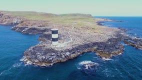 Rathlin南灯塔大西洋安特里姆北爱尔兰 股票录像