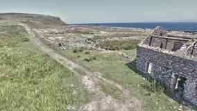 Rathlin海岛大西洋Co 安特里姆北爱尔兰2018年 库存照片