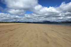 Rathmullan Beach. Walking on Rathmullan beach County Donegal Royalty Free Stock Photo