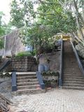 Rathnapura sankapala temple of the sri Lanka. It is the beautiful temple stock image