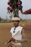 KAVANT`S GER FAIR 2018. Rathva Tribal community men and women makeup & dressed in their distinctive finery gradually congregating to sing and dance, discuss Stock Images