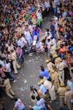 Rathyatra Ahmedabad, Indien gatafestival arkivfoto