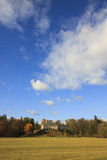 Ratiborice castel in sunny autumn day Royalty Free Stock Photography