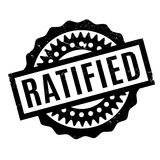 Ratified rubber stamp Stock Photography