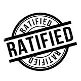 Ratified rubber stamp Stock Images