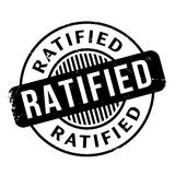 Ratified rubber stamp Royalty Free Stock Images