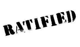 Ratified rubber stamp Royalty Free Stock Photo