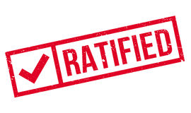 Ratified rubber stamp Royalty Free Stock Photos