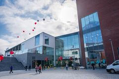 Ratina shopping center on opening day in Tampere Stock Image