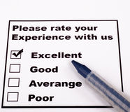 Rating. Please rate your Experience with us Royalty Free Stock Image