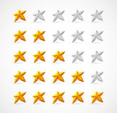 The Rating. Ratings with 3D stars. Eps 10 Stock Images