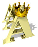 Rating AAA. AAA rating symbol with a golden crown Royalty Free Stock Image
