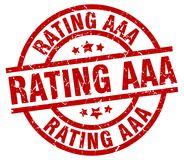 Rating aaa stamp. Rating aaa grunge vintage stamp isolated on white background. rating aaa. sign stock illustration