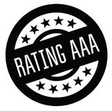 Rating aaa rubber stamp. Black. Sign, label sticker vector illustration