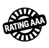 Rating aaa rubber stamp. Black. Sign, label sticker royalty free illustration