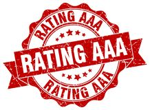 Rating aaa seal. stamp. Rating aaa round seal isolated on white background. rating aaa stock illustration