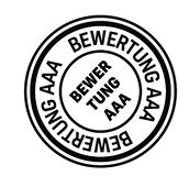 Rating aaa stamp in german. Rating aaa black stamp in german language. Sign, label, sticker royalty free illustration