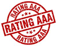 Rating aaa stamp. Rating aaa grunge vintage stamp isolated on white background. rating aaa. sign royalty free illustration