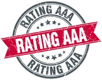 Rating aaa stamp. Rating aaa round grunge vintage ribbon stamp. rating aaa stock illustration