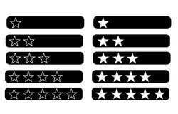 Rating bars with stars Royalty Free Stock Images