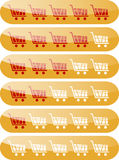 Rating carts like rating stars design elements Stock Photography
