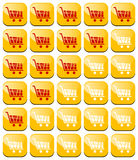 Rating carts like rating stars design elements Royalty Free Stock Photography