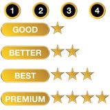 Rating Chart Icon Stock Photography