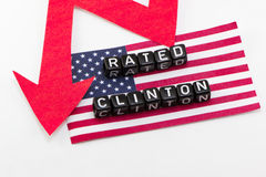 Rating Clinton falls phrase Stock Photo