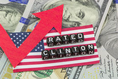 Rating Clinton grows. In the form of a composition Stock Images