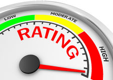 Rating. Concept image for illustration of rating in the highest meter , 3d rendering Royalty Free Stock Images