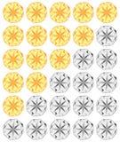 Rating diamond stars royalty free illustration