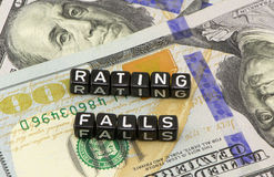 Rating drops word Stock Photo