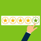 Rating of five stars. Flat design, illustration stock illustration