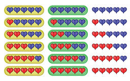 Rating hearts Stock Photo