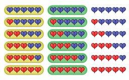 Rating Hearts Stock Photo