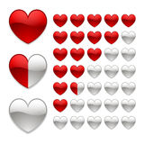 Rating of hearts Royalty Free Stock Images