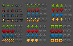 Rating icons pack Stock Images