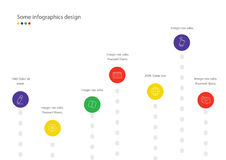 Rating infographic. Useful for presentation, web or banners Stock Photography
