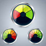 Rating meter design set of three Royalty Free Stock Photo