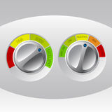 Rating meter design set of two Stock Images