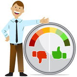 Rating Meter Man Stock Photo