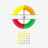Rating Meter Vector. Illustration vector of meter with stars rating Royalty Free Stock Photo
