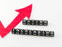 Rating phrase grows. On a white background Royalty Free Stock Photos