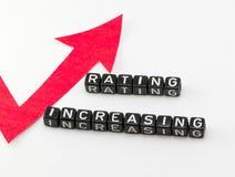 Rating phrase grows Royalty Free Stock Photos