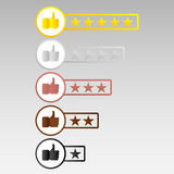 Rating, put a rating Royalty Free Stock Photo