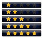 Rating review. Bars with stars Stock Images