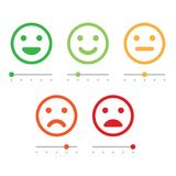 Customer Service Satisfaction Survey Form. Quality control. Rating satisfaction. Feedback in form of emotions. Excellent, good, normal, bad awful Vector Stock Images