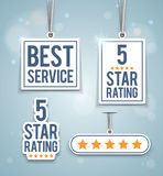 Rating signs Royalty Free Stock Photography